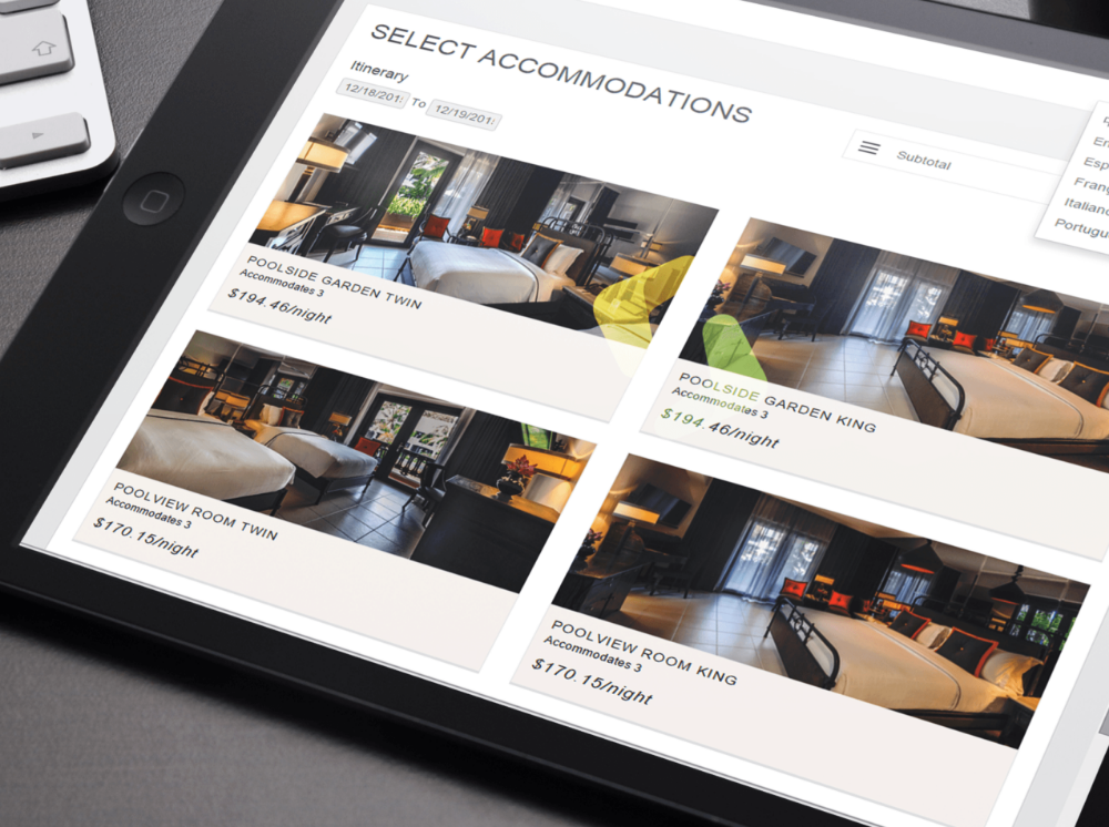 Frontdesk Anywhere Online Booking Engine mobile friendly